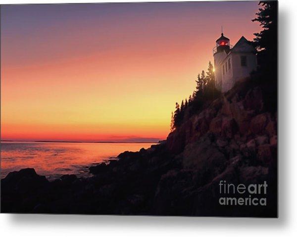 Beautiful Bass Harbor Lighthouse Metal Print
