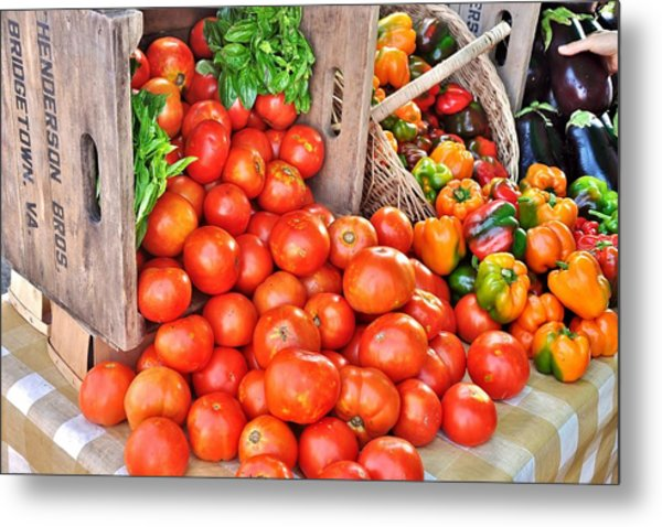 The Bountiful Harvest At The Farmer's Market Metal Print