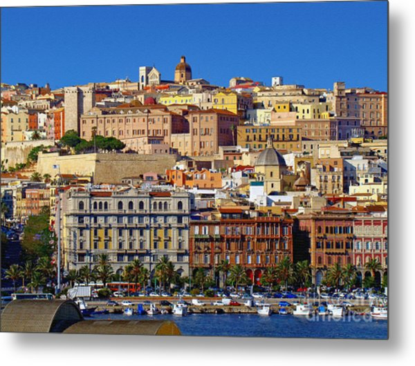 Beautiful Cagliari Metal Print