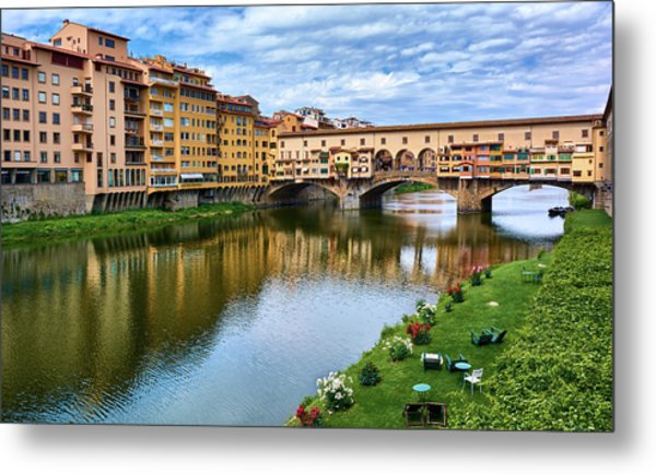 Ponte Vecchio On A Spring Day In Florence, Italy Metal Print