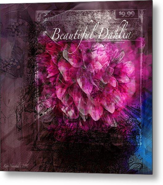 Beautiful Dahlia Metal Print