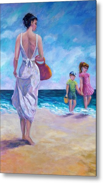 Beautiful Day At The Beach Metal Print