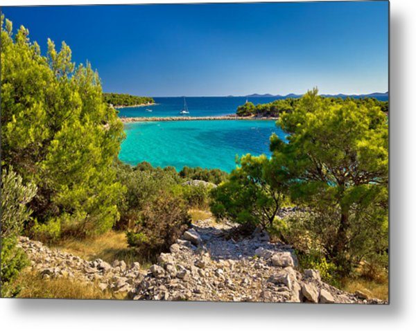 Beautiful Emerald Beach On Murter Island Metal Print