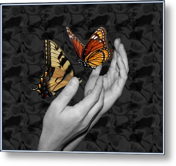 Beautiful Hands Two Metal Print by Amanda Vouglas