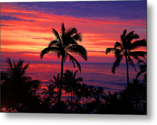 Beautiful Hawaiian Sunset Metal Print