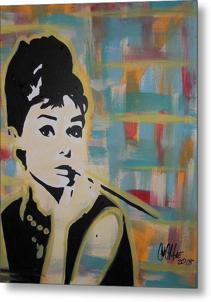 Beautiful Hepburn Metal Print
