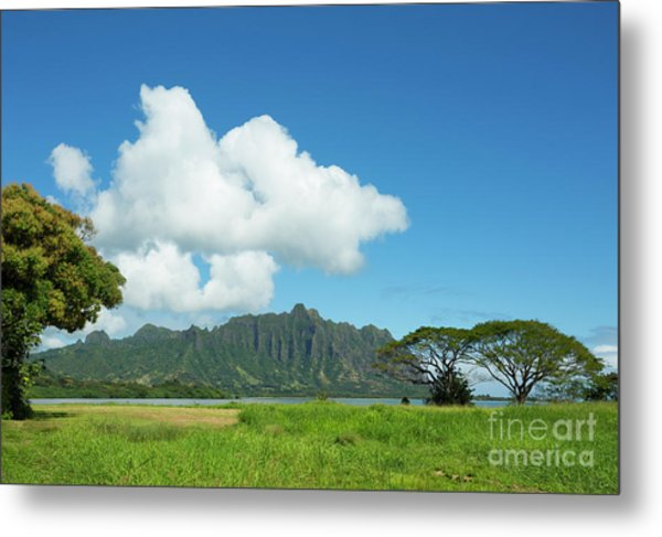 Beautiful Kualoa Ridge Metal Print