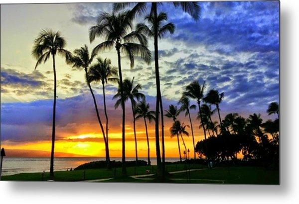 Beautiful Maui Hawaii Sunset Metal Print
