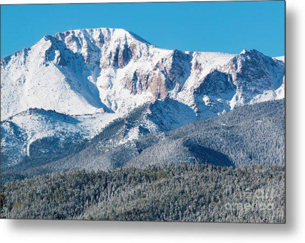 Beautiful Spring Snow On Pikes Peak Colorado Metal Print