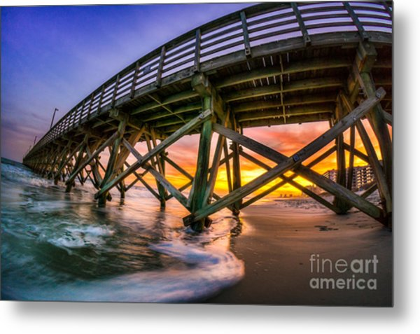 Beautiful Sunset In Myrtle Beach Metal Print