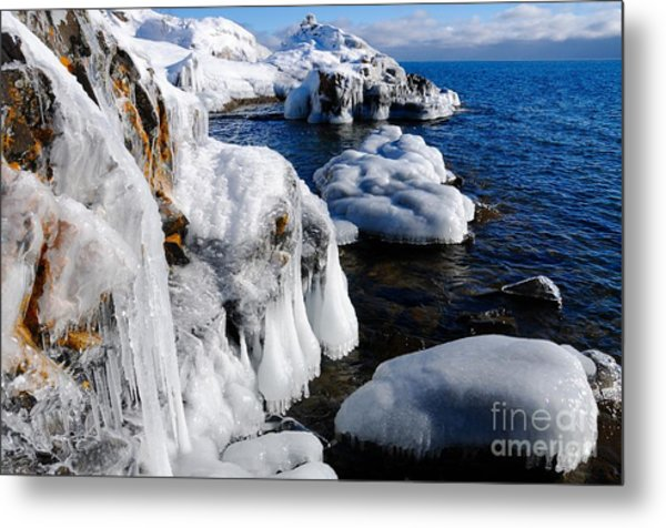 Beautiful Superior Ice Metal Print