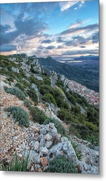 Beautiful View Of Baunei Metal Print