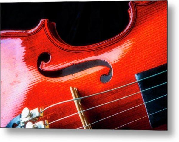 Beautiful Violin Close Up Metal Print