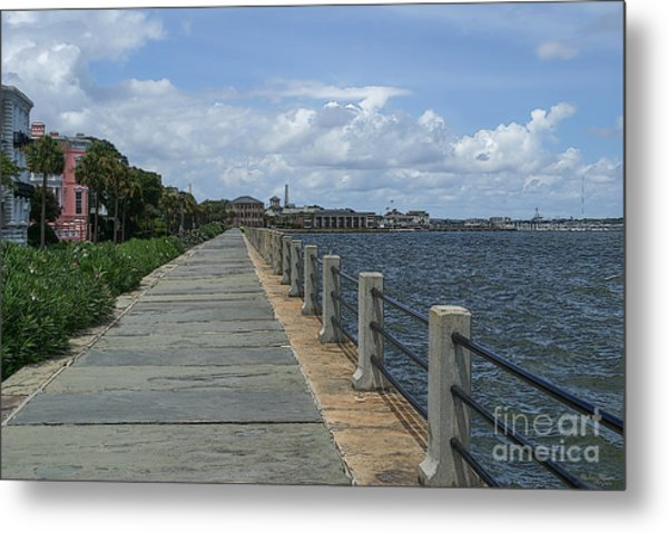 Beautiful Waterfront Walkway Metal Print