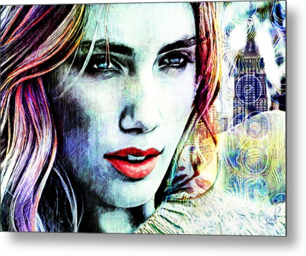Beautiful Woman Metal Print