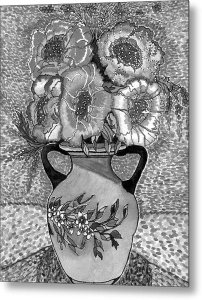 Beauty Black And White Metal Print