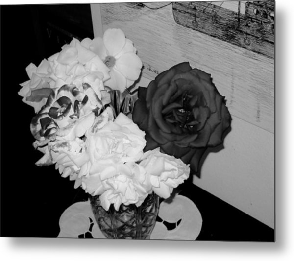 ..beauty In Black And White.... Metal Print by Adolfo hector Penas alvarado