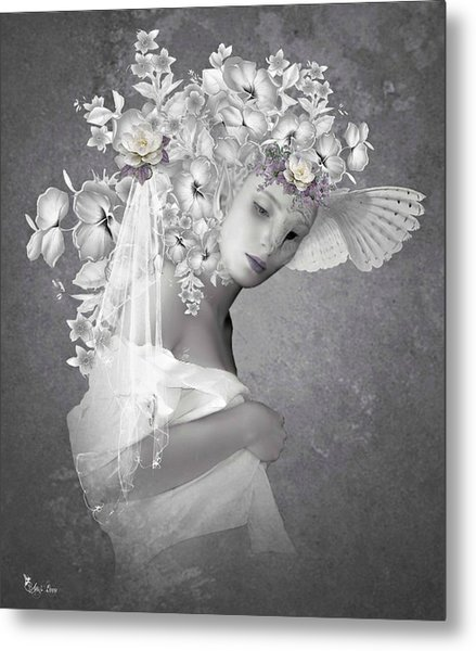 Beauty In The Eye Metal Print