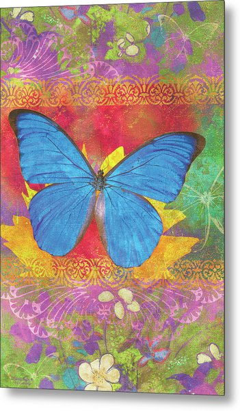 Beauty Queen Butterfly Metal Print