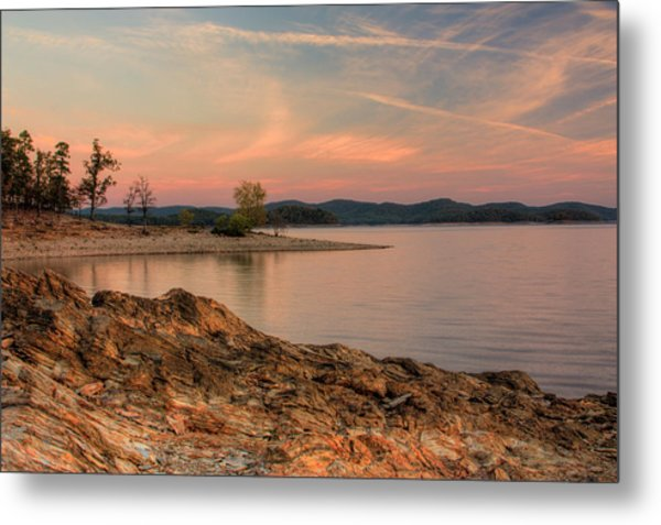 Beavers Bend Sunrise Metal Print