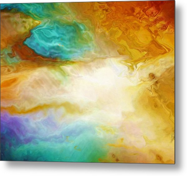 Becoming - Abstract Art - Triptych 2 Of 3 Metal Print