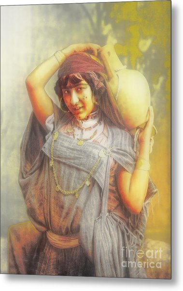 Bedouine Water Carrier Metal Print