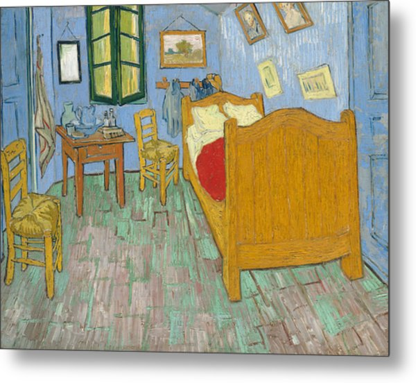 Metal Print featuring the painting Bedroom At Arles by Van Gogh