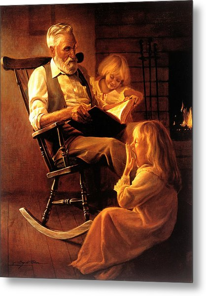 Metal Print featuring the painting Bedtime Stories by Greg Olsen