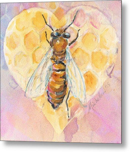 Bee Heart Metal Print