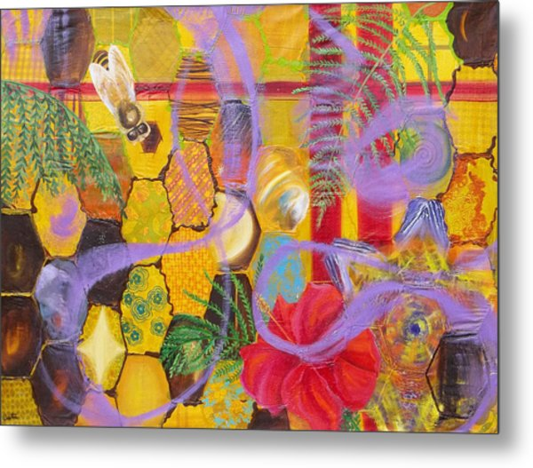 Beehive Oil Painting Metal Print