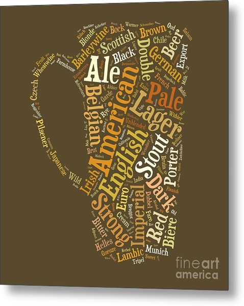 Beer Lovers Tee Metal Print
