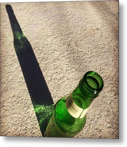 Beer Shadow #juansilvphotos Metal Print