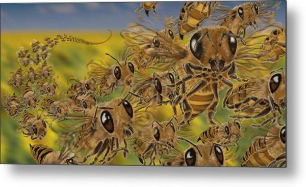 Bees Metal Print by Tom Wrenn
