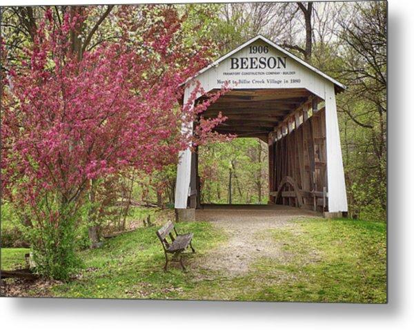 Beeson Covered Bridge Metal Print