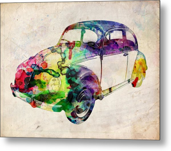 Beetle Urban Art Metal Print