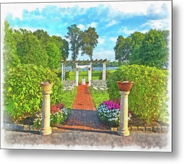 Metal Print featuring the digital art Before The Ceremony Begins by Digital Photographic Arts