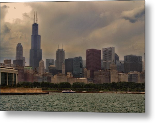Before The Spring Storm Chicago Sears Willis Tower 02 Metal Print