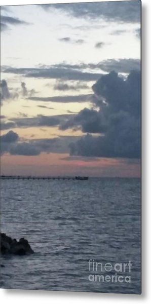 Before The Storm Metal Print by Karen Hamby