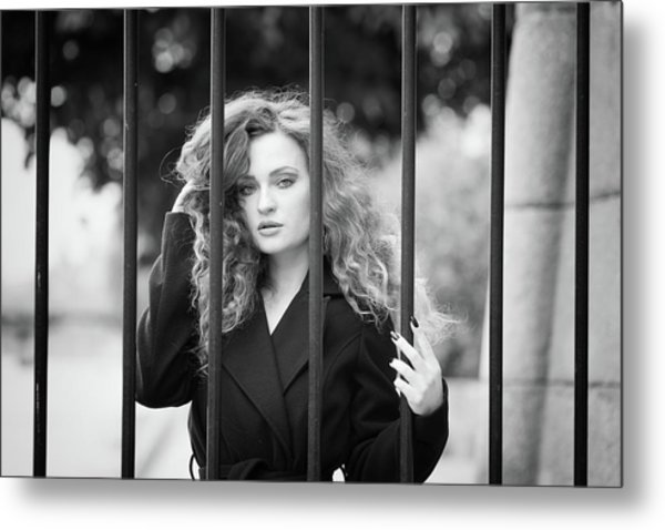 Behind Bars, Paris Metal Print