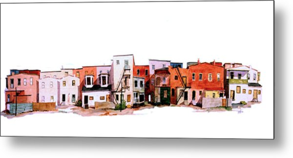 Behind Fourth Street Metal Print
