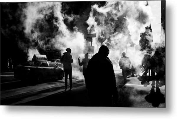 Behind The Smoke Metal Print