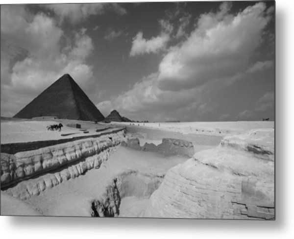 Behind The Sphynx Metal Print