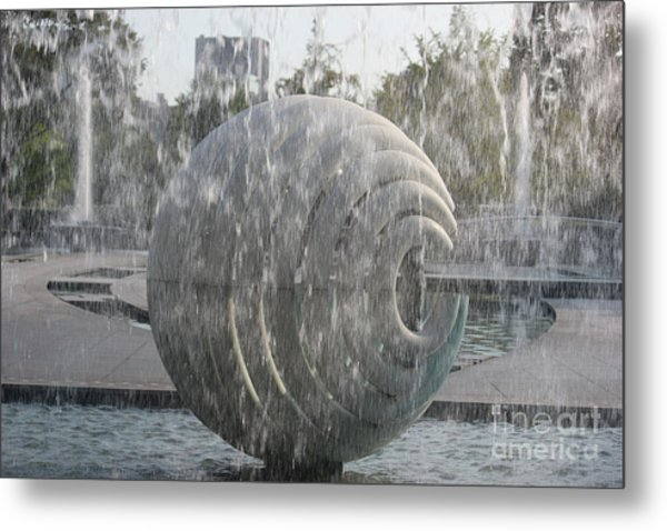 Behind The Water Metal Print