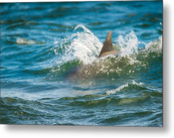 Behind The Wave Metal Print