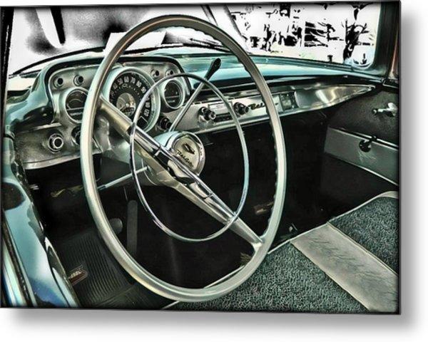 Behind The Wheel Metal Print
