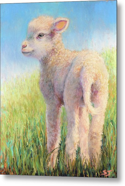 Behold The Lamb Metal Print