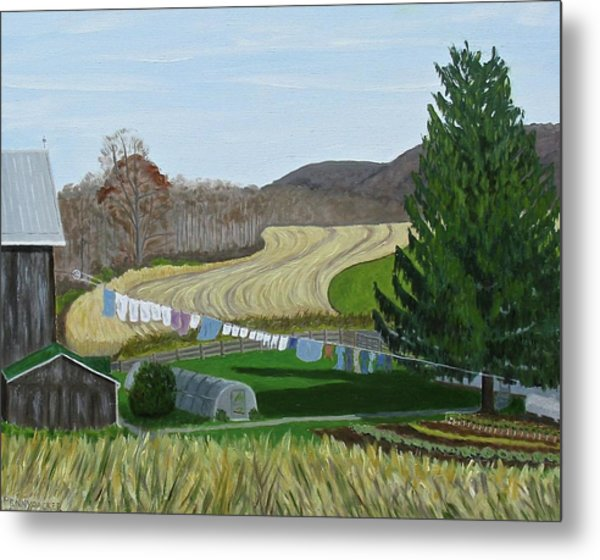 Beiler's View Of Egg Hill Metal Print