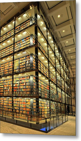 Beinecke Library At Yale University Metal Print