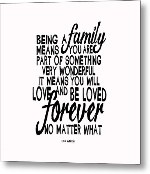 Being A Family Metal Print