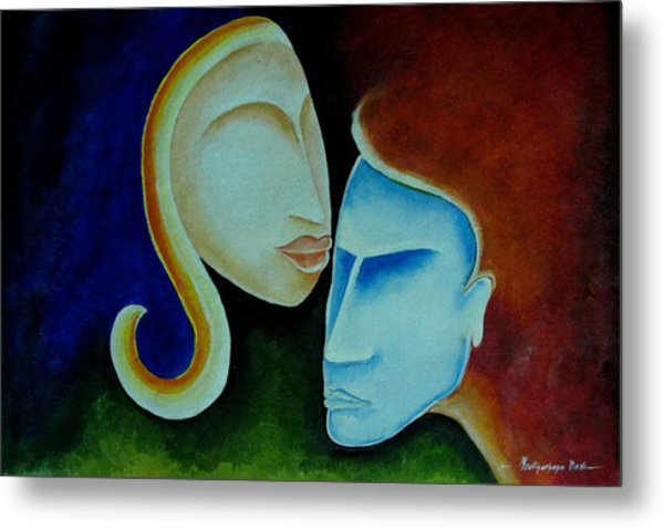 Being Together Metal Print